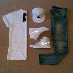 Outfit grid - Grey T-shirt & hi-tops