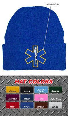 c3470c33 Custom Fire Department Cuffed EMS Knit Cap $14.95 Paramedic Uniform, Fire  Dept, Fire Department