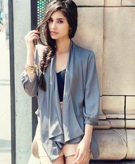 This collard jacket is perfect for those chilly spring nights. $24.80