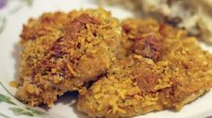 5 Ingredients to make this delicious chicken.  We really loved the flavor and crunch!