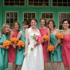 instead of the pink dresses, maybe the pale yellow instead?!