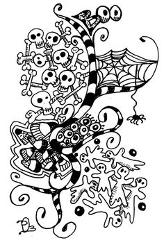 Boo by dobriendesign Zentangle Drawings, Doodles Zentangles, Doodle Drawings, Tangle Doodle, Zen Doodle, Doodle Art, Doodle Patterns, Zentangle Patterns, Vampires