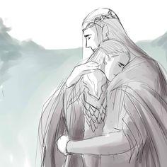 Elladan, Elrohir, and Legolas by NamistaiVanBuuren on DeviantArt Legolas Father, Legolas And Thranduil, Tolkien Books, Jrr Tolkien, Lotr Elves, Heaven Art, Modern Disney Characters, Fanart, Middle Earth