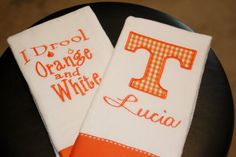 Personalized Tennessee Burp Cloth Set by BebesStitches on Etsy, $20.00