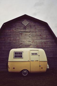 vintage | camper | van | pastels | yellow | barn | cute | old school | www.republicofyou.com.au