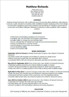 Construction Management Cover Letter News Photographer Resume1  Cakes  Pinterest