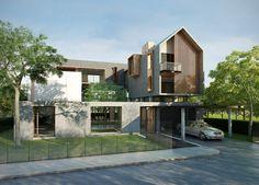 Exterior architecture facade modern architects ideas for 2019 Villa Design, Facade Design, Exterior Design, Modern Exterior, Modern Tropical House, Modern House Design, Facade Architecture, Residential Architecture, Residential Building Design