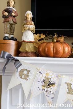 """Give Thanks"" DIY Thanksgiving Banner"