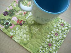 hello spring mug rug - FREE SHIPPING. $9.00, via Etsy.
