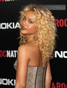 Cabello Rihanna Peluca de Encaje Rizado con 100%Cabello Humano 18 Pulgadas (Envío Gratuito)
