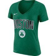 Nike Women's Boston Celtics Dri-FIT Kelly Green Wordmark V-Neck T-Shirt