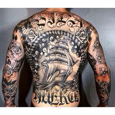 Chris 'Clew' Lewis by Adam J. Machin, Three Kings Tattoo, Brooklyn, NYC 9/14/14
