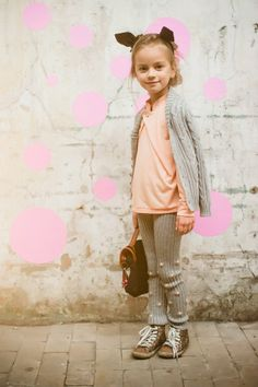 love the pom poms on the tights   #kids #styles