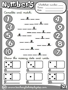 Numbers - Worksheet 1 (B&W version)