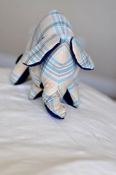 I was watching Dear Genevieve   and she was going to decorate a nursery with the cutest elephant doll. It didn't look that difficult to mak...