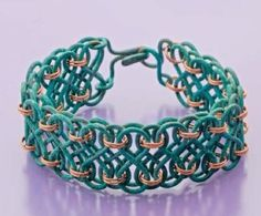 Julie Stratton's Captured Infinity bracelet - from 10 Lessons in Wire Jewelry Making and a Wire IQ Quiz - Jewelry Making Daily