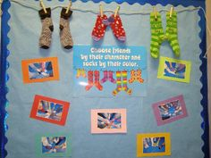 Easy to Change it Up - Socks Off to ________ OR use other clothes items & create a laundry line