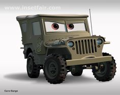 "Flash illustration/graphics/drawing of a cartoon character ""Sarge"", from animation movie cars. Download – free flash vector image file, swf files and fla source with www.insetfair.com"