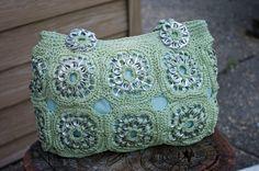 Upcycled Honeydew Green Crochet Pop Tab Purse