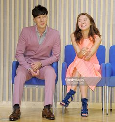 So Ji-Sub and Kong Hyo-Jin attend the SBS Drama 'The Master's Sun' press conference at SBS Building on July 26, 2013 in Seoul, South Korea.