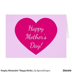 Create your own unique greeting on a Mother card from Zazzle. From birthday, thank you, or funny cards, discover endless possibilities for the perfect card! Mother Card, Mother's Day Greeting Cards, Happy Mother S Day, Create Your Own, Minimalist, Templates, Nice, Simple, Models