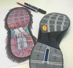 Vibram sole sketch #projects #vibram #footweardesign
