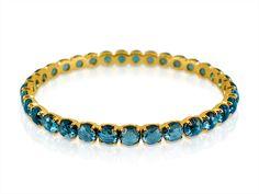 Ippolita 18K Yellow Gold Rock Candy Lollipop London Blue Topaz Bangle Bracelet