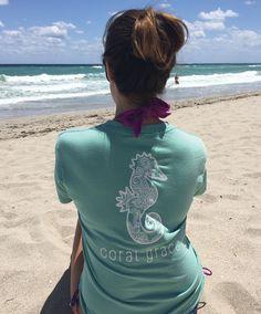 Adult Seafoam T-Shirt with Henna Print