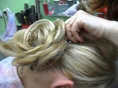 Delicate Rose up-do for a wedding. Long video with odd music but very interesting