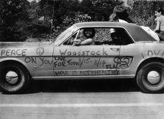Woodstock car graffiti 1969