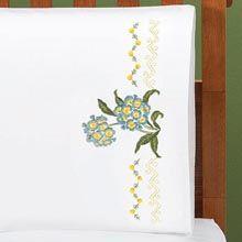 Hydrangea Happiness Pillowcase Pair—Queen