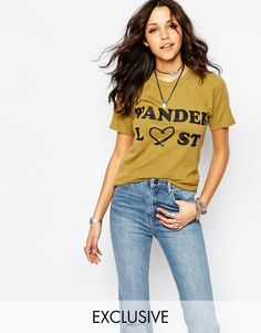Milk It Vintage Fitted T-Shirt With Wanderlust Festival Print