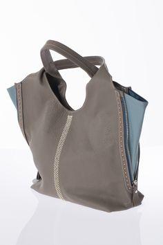 Sac gris et turquoise, STYLE SO ORIGINAL, 399$ * Gray and turquoise bag, STYLE SO ORIGINAL, $399