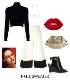 """""""fall sweater + culotte pants"""" by coryamarbun on Polyvore featuring Lemaire, Jack Wills, Givenchy, Alexander McQueen, mizuki, Chanel and Lime Crime"""