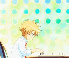 "This chibi is based off the anime ""Kaichou wa Maid-sama!"" This anime chibi gif is of Takumi Usui."