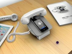 Feeling nostalgic for the old days of desk phones. Combine the old and the new.