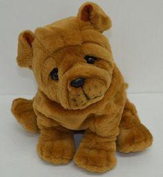 "Ganz Shiri Sharpei Puppy Dog Plush Brown Wrinkles Stuffed Animal 10"" 1992 #Ganz http://stores.ebay.com/Lost-Loves-Toy-Chest?_dmd=2&_nkw=ganz"
