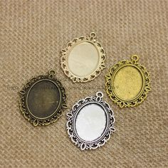 Cheap jewelry mystic, Buy Quality blank sim directly from China blank mask Suppliers: 20pcs/lot Antique silver filigree cameo cabochon base setting pendant tray 30*40mm (Fit 18*25mm DIA) Jewelry Blanks