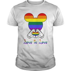 LOVE IS LOVE. Cute, Clever, Funny, Gay, Lesbian, LGBTQ, Gay Pride Week, Pride Colors, Flag, Rainbow, Quotes, Sayings, T-Shirts, Hoodies, Tees, Clothes For Women and Men, Gifts