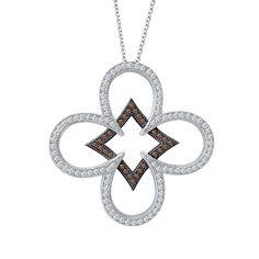 $255 Chocolate and white Lafonn pendant