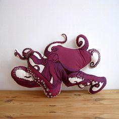 Broderpress: Octopus Pillow
