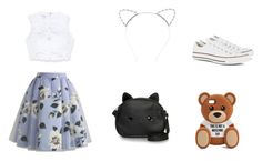"""""""Untitled #18"""" by laura-estrada-costa on Polyvore featuring Chicwish, Bebe, Loungefly, Lipsy, Moschino and Converse"""