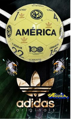 Balon Conmemorativo AMERICA adidas Adidas Originals, Soccer Ball, Bff, Ronaldo, Grande, Football, China, Places, Club America