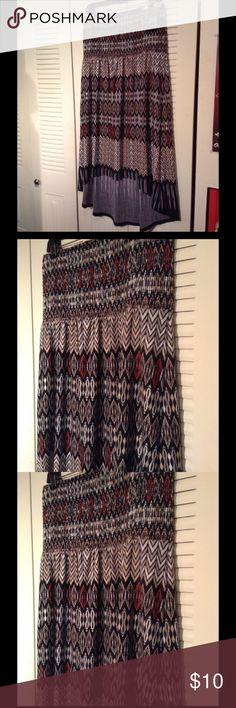 2/$14 High low skirt dress tribal look High low skirt dress tribal look skirt cannot locate straps 😣😣😣 Cato Dresses Midi