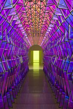 One-way colour tunnel, 2007 © Olafur Eliasson
