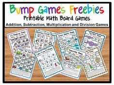 Bump Math Games FREEBIES! Kids love to BUMP! :)
