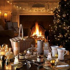 Laura Ashley Christmas - Everything You Could Wish For! Best time for year Cosy Christmas, Christmas Fireplace, All Things Christmas, Beautiful Christmas, Christmas Lights, Christmas Time, Christmas Decorations, Christmas Wonderland, Christmas Breakfast
