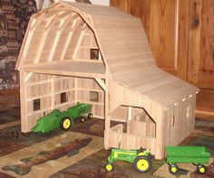 Wooden toy barn for the kids!