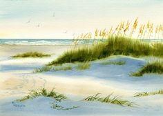 Dunescape con dunas de arena, la avena del mar y océano