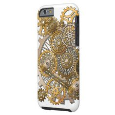 Iphone 6/6s Steampunk Gears Tough Phone Case ~ Mind blowing steampunk gears on very tough phone case for maximum protection.